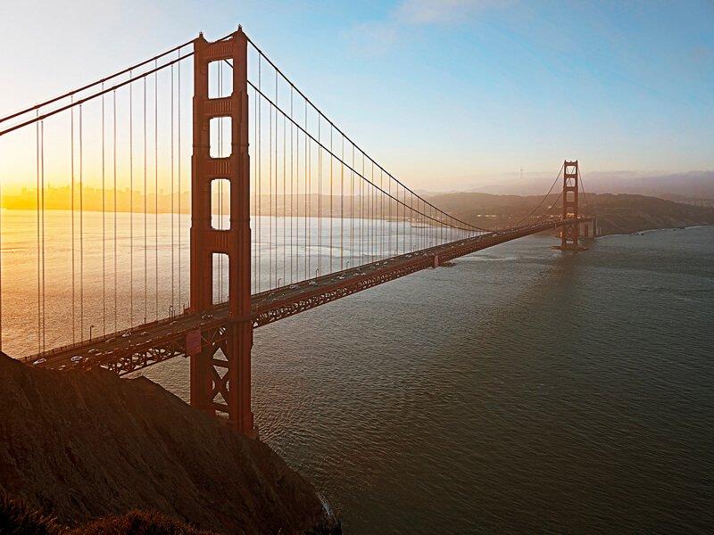 golden bridge before