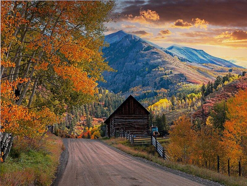 mountain dramatic. sunset