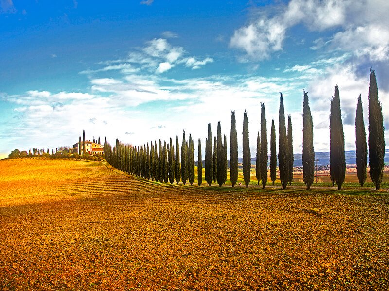 val d'orcia before